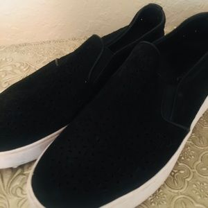 VIONIC Sz 7 Splendid Black Midi Perforated Loafer